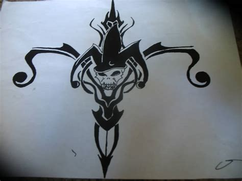 evil jester tattoo designs 15 tribal jester tattoos
