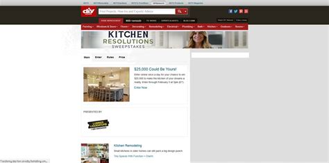 Diy Network Home Giveaway - diy network kitchen resolutions sweepstakes diynetwork com kitchensweeps