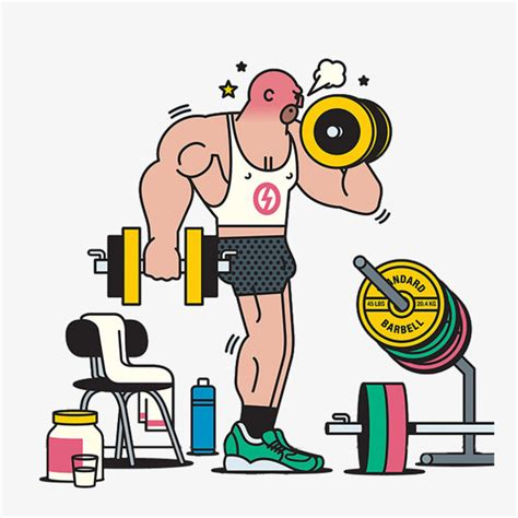 imagenes fitness animadas cartoon fitness man fitness weightlifting barbell png