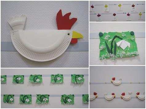 paper plate chicken craft chicken paper plate crafts