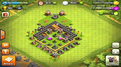 clash of clans layout guide level 5 clash of clans amazing town hall level 5 and 8 layout