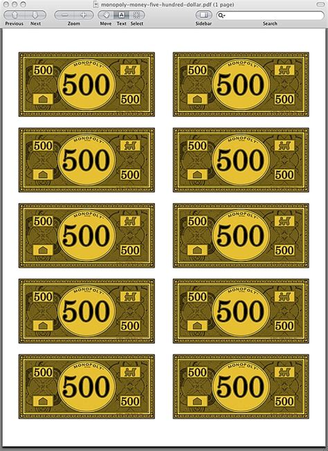 printable monopoly directions monopoly money pdf monopoly game pinterest monopoly