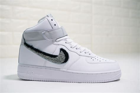 nike air force  high white wolf grey