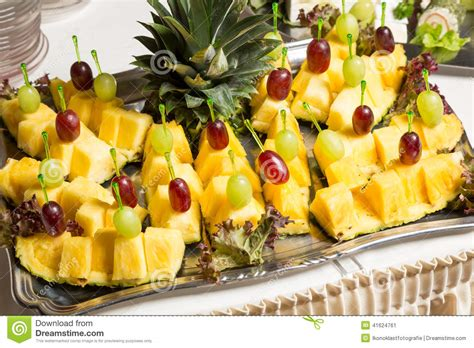Pineapple Buffet L Buffet With Pineapple And Grapes Appetizers And Other