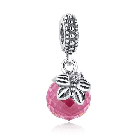 Butterfly Silver Dangle With Cubic Zirconia P 173 2017 morning butterfly faceted silver dangle charms with pink clear cubic zirconia for pandora