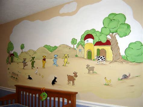 Nursery Farm Land Wall Murals,Children's Wall Mural,Murals