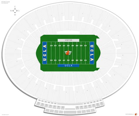 bowl seating chart with rows bowl stadium ucla seating guide rateyourseats