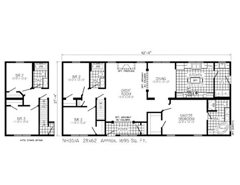 ranch style house plans open concept floor free printable