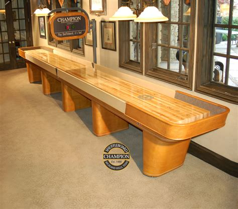 best wood for shuffleboard table chion shuffleboard