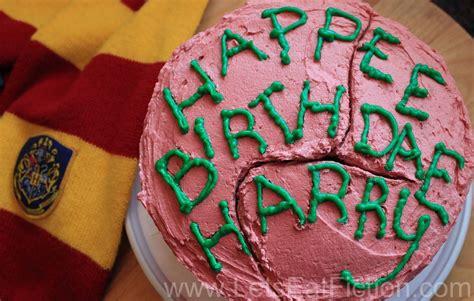 lets eat fiction hagrids birthday cake  harry