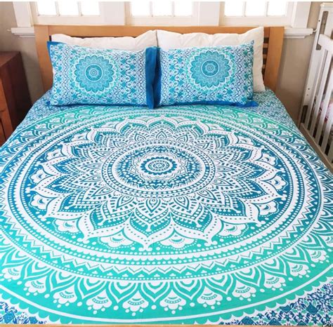 mandala bedding deep blue mandala queen bed cover the yoga mandala store
