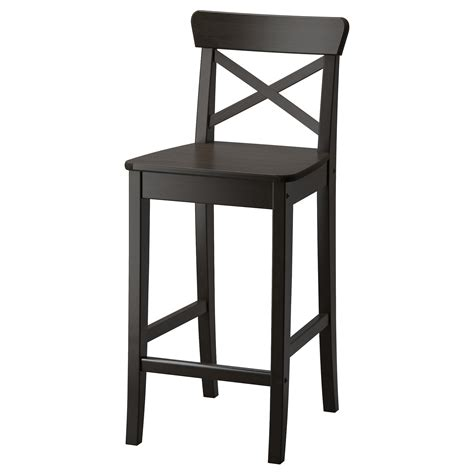 ikea ingolf bench ingolf bar stool with backrest brown black 63 cm ikea