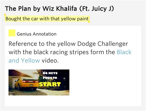 bought the car with that yellow paint the plan lyrics meaning