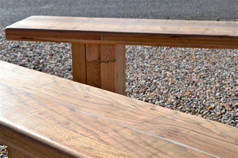 Backyard Barbeque Newberry Fl Reclaimed Oak Bench Reclaimed Oak Bench Bold Design Chunky