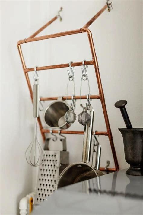 copper pots as kitchen decor remodelista 17 best images about pot racks on pinterest copper pots