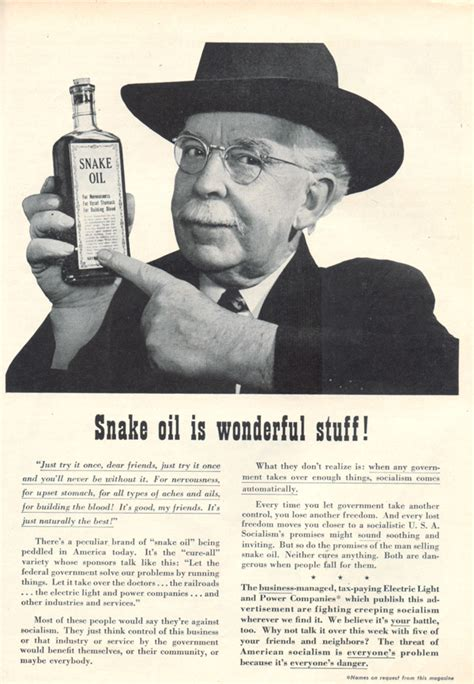 quotes  snake oil  quotes