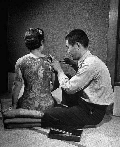 yakuza tattoo photoshop brushes japanese gangster vintage photos of yakuza with their