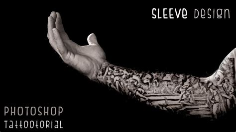 photoshop tutorials custom tattoo sleeve design youtube