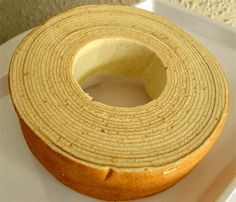Baumkuchen: Multi layered Tree Cake with chocolate couverture