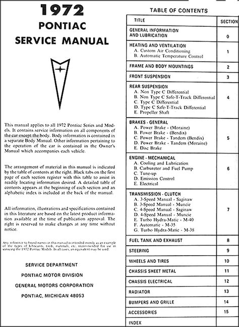how to download repair manuals 1979 pontiac grand prix security system 1972 pontiac shop and body manual cd tempest gto lemans grand prix bonneville ebay