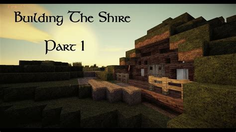 minecraft building  shire    hobbit hole