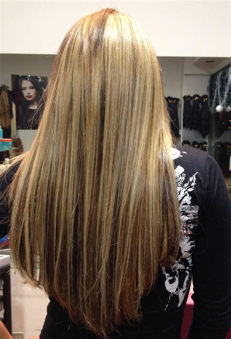 mechas para cabello chocolate rubias