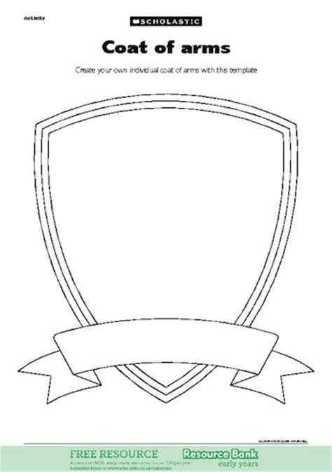 coat of arms template for students coat of arms free early years teaching resource scholastic