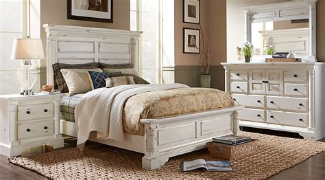 panel bedroom sets claymore park white 8 pc king panel bedroom king