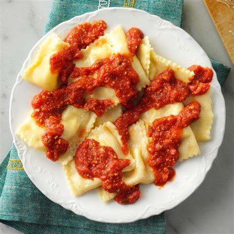 homemade ravioli recipe taste of home