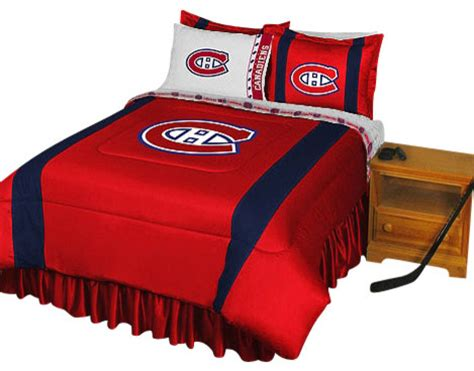 hockey bed nhl montreal canadiens bedding set hockey bed full
