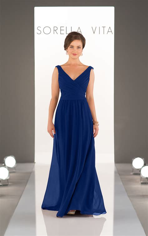 bridesmaid dresses classic chiffon  neck bridesmaid