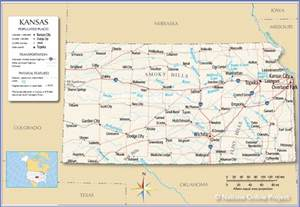 State Map Of Kansas by Reference Map Of Kansas Usa Nations Online Project