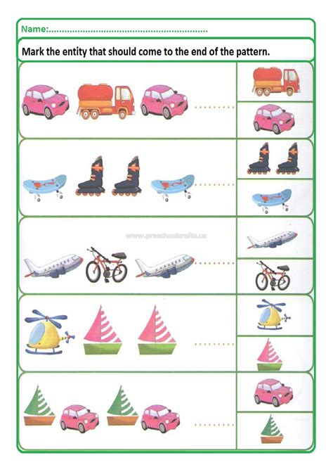 patterns for grade 2 students colored pattern worksheets for kids preschool and