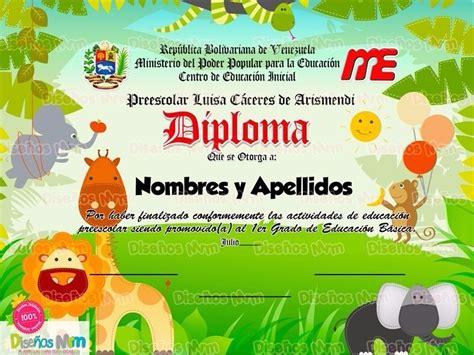 diplomas escolares infantiles para ni 241 os para imprimir y diplomas de preescolar a color para imprimir 10 plantillas