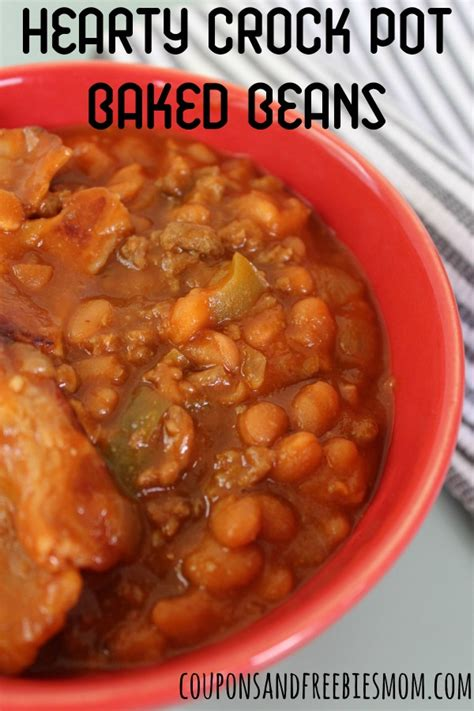 hearty crock pot baked beans coupons and freebies mom