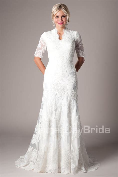 Discount Lds Wedding Dresses by Inexpensive Modest Wedding Dresses Lds Discount Wedding