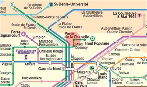 metro porte de la chapelle porte de la chapelle station map metro
