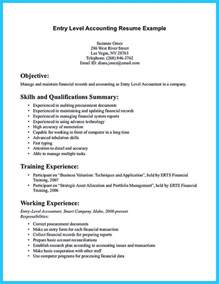 Accountant Resume Objective by Sle For Writing An Accounting Resume