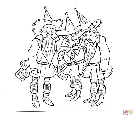 wizard of oz munchkins coloring page free printable