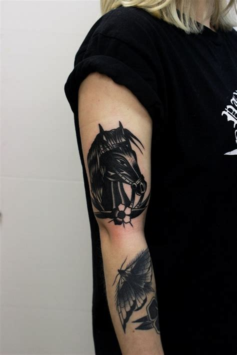 traditional horse tattoo traditional black tattoogrid net