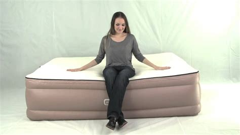 air bed memory foam topper built in airtek air mattress