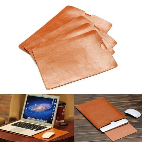 Macbook Pro Retina 15 Inch Pouch Wallet Leather Dompet Cover pu leather for macbook air pro retina 11 12 13 15 quot inch laptop bag sleeve notebook