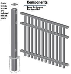 how to install freedom aluminum fence install aluminum