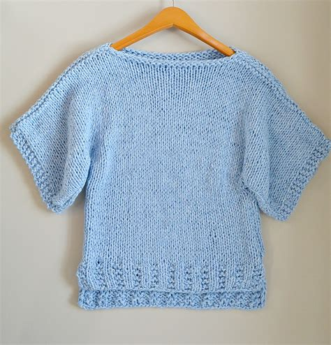knit t easy knit boxy t shirt quot quot pattern in a stitch