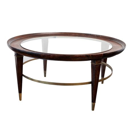 vintage coffee table vintage coffee table in wood glass and brass on antique