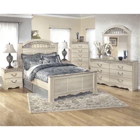 Catalina Bedroom Set ashley catalina 6 piece wood queen panel bedroom set in