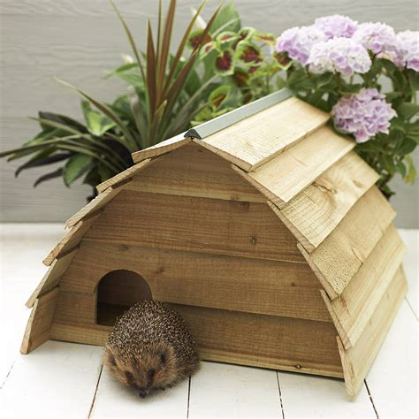 buy hedgehog house wooden hedgehog house by wudwerx notonthehighstreet com