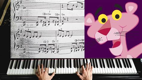 tutorial piano pink panther pink panther theme piano tutorial youtube