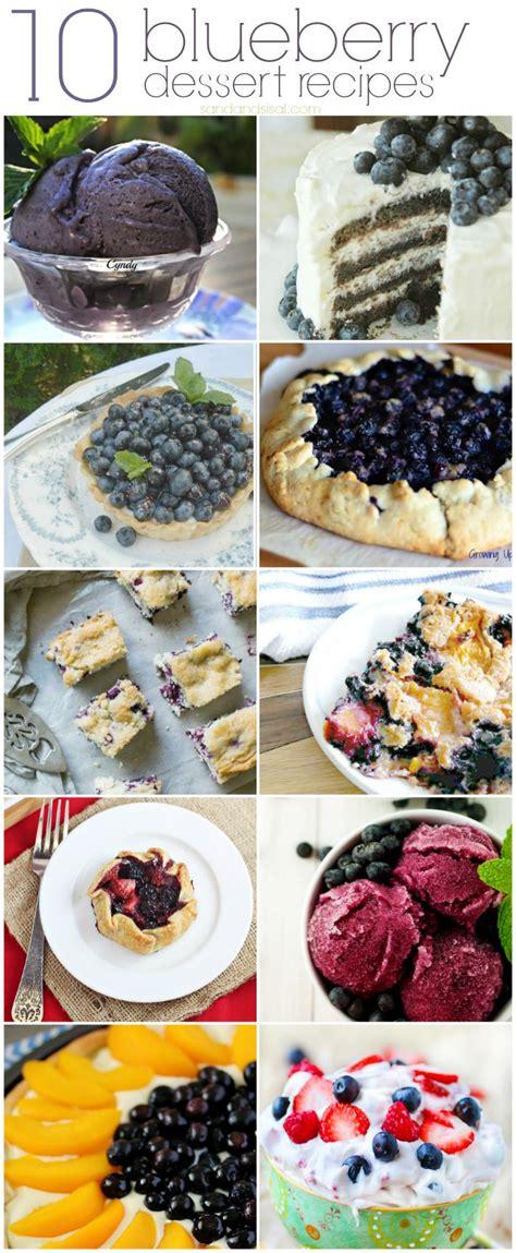 10 blueberry dessert recipes sand and sisal