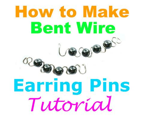 how to make sted metal jewelry items similar to how to make bent wire earring pins